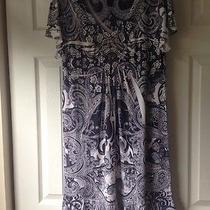 New Macys Style & Co Flutter Short Sleeve Dress Medium Photo