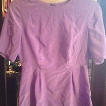 New Made Well J.crew Silk Purple Lavender 2/4 Sleeve Peplum Top Xs X-Small  Photo