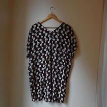New Madewell Easy Silk Tunic Dress Size Medium Batik Dark Plum Purple Brown 138 Photo