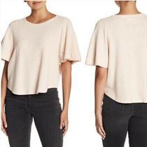 New Madewell Texture & Thread M Flutter-Sleeve Top Shirt Muted Blush Pink Nwt Photo