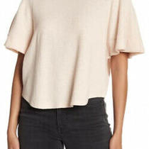 New Madewell Texture & Thread Xs Flutter-Sleeve Top Shirt Muted Blush Pink Nwt Photo