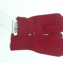 New Maison Martin Margiela Mm6 Wool Gloves 32yu004 Black or Red 1 Box No Fingers Photo