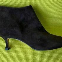 New Manolo Blahnik Maleeba Brown Suede Booties Size 37 Photo