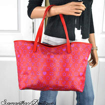 New Marc by Marc Jacobs Eazy Red Purple Textured Pvc Leather Tote M3113069 Photo