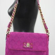 New Marc Jacobs Purse Straw Leather the Single Shoulder Hobo Bag Fuchsia Large Photo