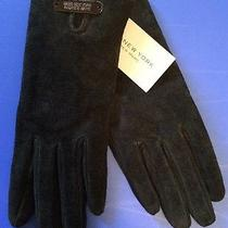 New Marc New York Suede Women's Smartphone Iphone Gloves Sz Small Black Photo