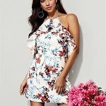 New Marciano Guess Bon Voyage Ruffle Halter Floral Summer Strappy Dress Xs M Photo