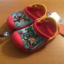 New Marvel Avengers Ii Creative Clog Kids Boys Shoes Sz C 4/5 Red/canary Photo