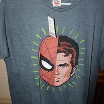 New Marvel Spider-Man Peter Parker Spiderman Junkfood Junk Food Brand T-Shirt L Photo