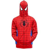 New Marvel Spiderman Parker Costume Hoodie Jacket With Full Zip Mask Mens L  Photo