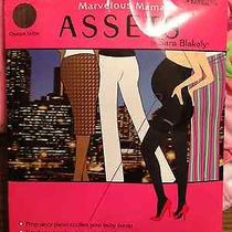 New Marvelous Mama Assets (Spanx) Sara Blakely Maternity Opaque Tights - Black Photo