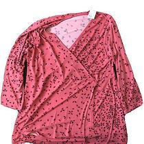 New Maternity Motherhood Long Sleeve Shirt Top Xl Blush Pink Photo