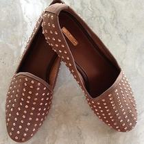 New Matiko Lana Brown Rose Gold Studded Loafers Smoking Slippers Shoes Size 7.5 Photo