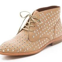 New Matiko Oliver Size 6 Goatskin Studded Booties Lace Up Brogues  Photo