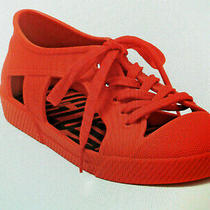 Newmelissa Brazil Sz 7m Tie Fashion Sneakers Red Photo