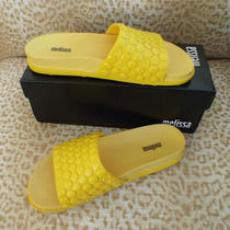 Newmelissa Brazil Sz 8m Casual Slide Sandals Yellow Photo