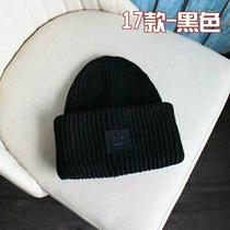 New Men and Women Acne Studio Pansy S Face Ribbed Wool Knit Hat Cap Hat 02 Photo