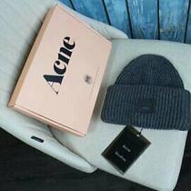 New Men and Women Acne Studio Pansy S Face Ribbed Wool Knit Hat Cap Hat 03 Photo