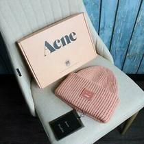 New Men and Women Acne Studio Pansy S Face Ribbed Wool Knit Hat Cap Hat 01 Photo