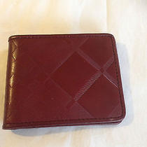 New Men Burberry  Wine Slim Leather Wallet Photo