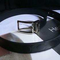 New Men Mode Coach Trendy Belt Black Reversible Casual Leather One Size Adjust Photo