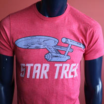 New Men Pink Express Cartoon Official Star Trek Movie T Shirt S Photo