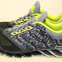 New Men's Adidas Springblade Drive 2 Running Shoes Sz 12 Black Grey Volt D68970 Photo