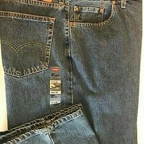 New Men's Big & Tall Size 54 Levi's 550 Denim Jeans Relaxed Fit Tapered Leg Photo