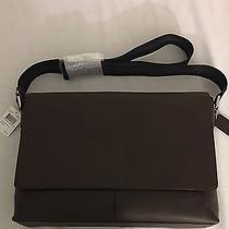 New Men's Coach F54792 Charles Messenger in Smooth Leather Photo