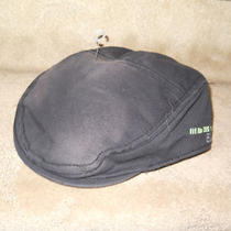 New Men's Express Black Beret Hat Cap  Name on Hat   Small / Medium Photo