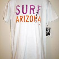New Men's Hurley Orange Purple Surf Arizona White Tee T Shirt Size M Medium Nwt Photo