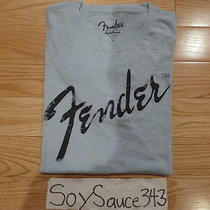 New Men's Lucky Brand Fender Logo Light Baby Blue Graphic Tee Shirt Sizes L-Xl Photo