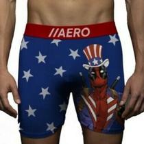 New Men's Medium 32-34 Deadpool Stars Stripes Aeropostale Boxer Briefs Underwear Photo
