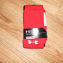 New Men's Medium  Red Under Armour Heat Gear Allsport Socks Photo