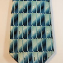 New Men's Monterey Bay by J. Blades & Co. Silk Necktie Tie - Silk - Aqua Blue  Photo