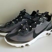 New Men's Nike React Element 87 Running Shoe Size 14 Black/white Aq1090-001 Photo