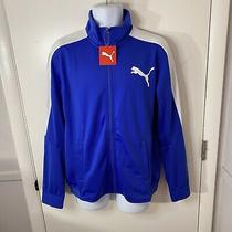 New Mens Puma Contrast Dazzling Blue Track Jacket Size Medium (838605 44) Photo