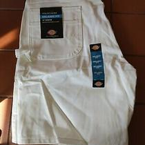 New Men's Size 40 White Dickies Relaxed Fit Utility Painters Shorts Photo