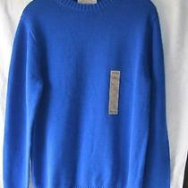 New Men's St. John's Bay Bold Blue Sweater Long Sleeve Size S Photo