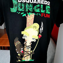 New Men's T-Shirt  %Dsquared% Jungle Fun Black Size S Photo
