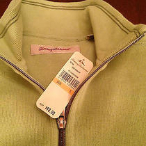 New Men's Tommy Bahama 1/2 Zip Cotton Sweater - Clover Green - Size Small Aruba Photo