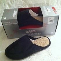 New Men's Totes Elements Slipper Gift Black Clog Bedroom Shoe Slip on 8 9 Medium Photo