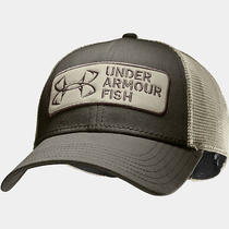 New Men's Under Armour Ua Fish Hook Patch Adjustable Fishing Hat Cap-Os Photo