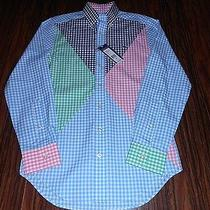 New Men's Vineyard Vines Harbor Lights Whale Checkered Button Up Shirt Xs Nwt Photo
