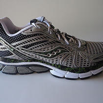 New Men Saucony Running Shoes Progrid Triumph 8 Silver Black Green Sz 10.5 Photo