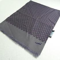 New Men Scarf Lanvin Grey Scarf With Geometric Pattern Cotton/silk Photo