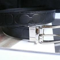 New Men Style Coach Cool Belt Black Reversible Casual Leather One Size Adjust Photo