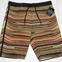 New Mens 34 Element Premium Striped Stretch Board Shorts Photo