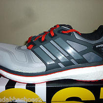 New Mens Adidas Energy Boost 2 Running Shoes D73880 Grey Red Size 11 Photo