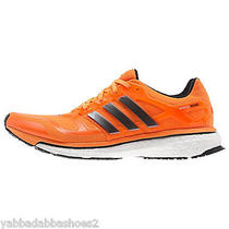 New Mens Adidas Energy Boost 2 Running Shoes F32247 Orange Size 11 Photo